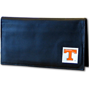 Tennessee Black Leather Checkbook Cover