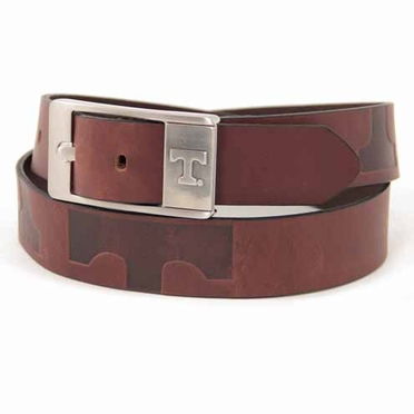 Tennessee Brown Leather Brandished Belt