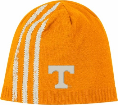 Tennessee Cuffless Distressed Striped Knit Hat