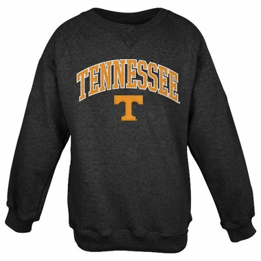 Tennessee Embroidered Crew Sweatshirt (Black)