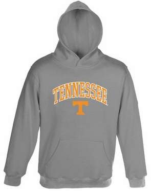 Tennessee Embroidered Hooded Sweatshirt (Grey)
