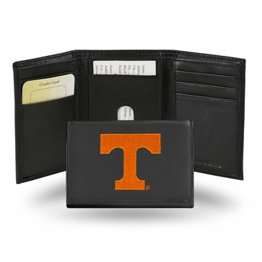 Tennessee Embroidered Leather Tri-Fold Wallet