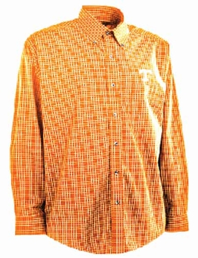 Tennessee Mens Esteem Button Down Dress Shirt (Team Color: Orange)