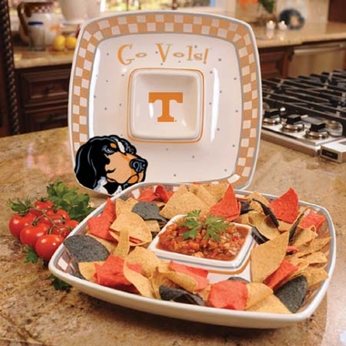 Tennessee Gameday Ceramic Chip and Dip Platter