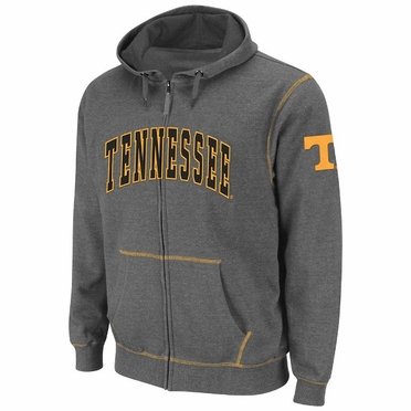 Tennessee Heathered Charcoal Blackout Full Zip Hooded Sweatshirt