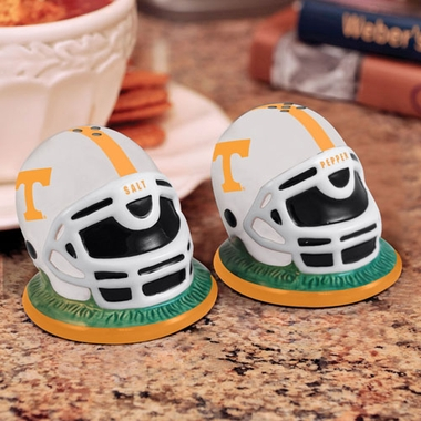 Tennessee Helmet Ceramic Salt and Pepper Shakers