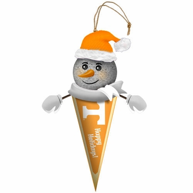 Tennessee Light Up Snowman Pennant Ornament (Set of 2)