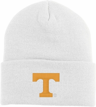 Tennessee Logo Knit Ski Cap (White)