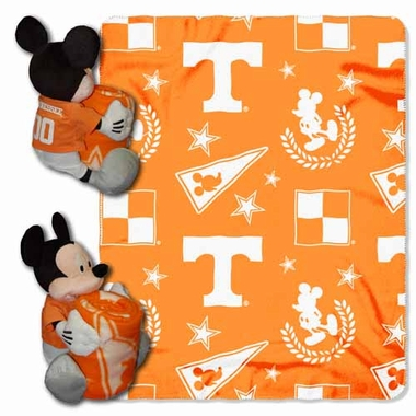 Tennessee Mickey Mouse Pillow / Throw Combo