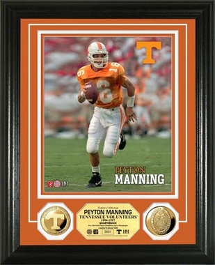 Tennessee Volunteers Peyton Manning University of Tennessee 24KT Gold Coin Photo Mint