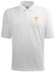 Tennessee Mens Pique Xtra Lite Polo Shirt (Color: White) - Medium