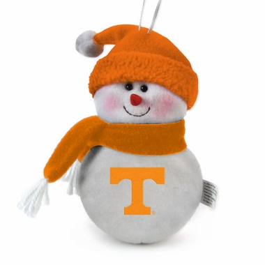 Tennessee Plush Snowman Ornament (Set of 3)