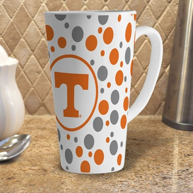 Tennessee Polkadot 16 oz. Ceramic Latte Mug
