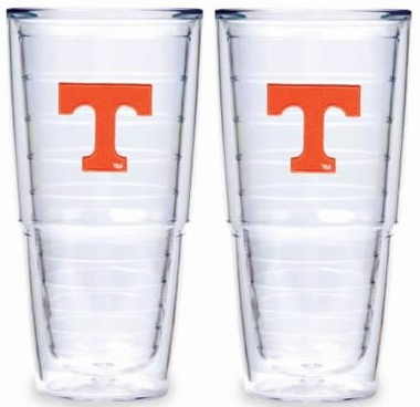 "Tennessee Set of TWO 24 oz. ""Big T"" Tervis Tumblers"