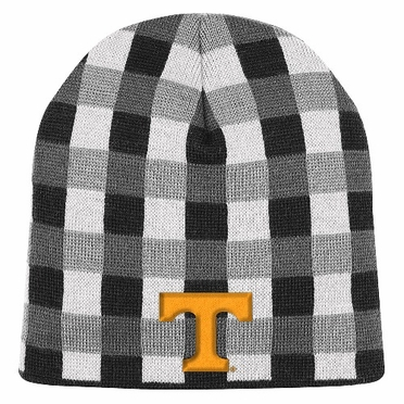 Tennessee Soul Plaid Cuffless Knit Beanie Hat