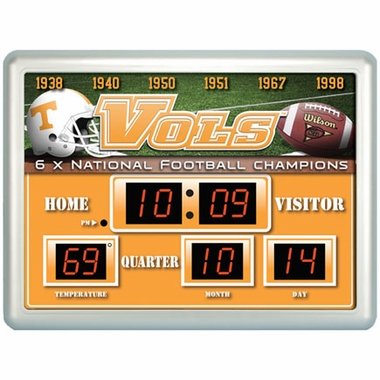 Tennessee Time / Date / Temp. Scoreboard