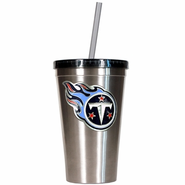 Tennessee Titans 16oz Stainless Steel Insulated Tumbler with Straw