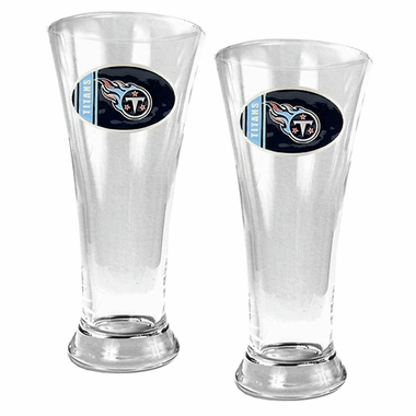 Tennessee Titans 2 Piece Pilsner Glass Set