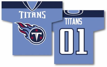 Tennessee Titans 2 Sided Jersey Banner Flag (F)
