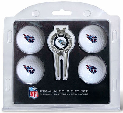 Tennessee Titans 4 Ball and Tool Gift Set