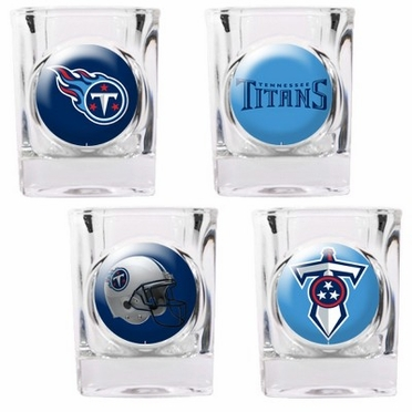 Tennessee Titans 4 Piece Assorted Shot Glass Set