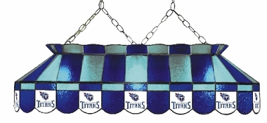 Tennessee Titans 40 Inch Rectangular Stained Glass Billiard Light