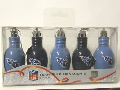Tennessee Titans 5 Pack Bulb Ornaments