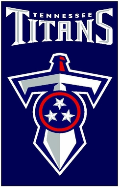 Tennessee Titans Applique Banner Flag