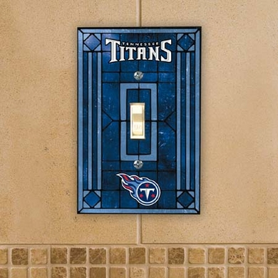 Tennessee Titans Art Glass Lightswitch Cover
