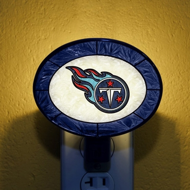 Tennessee Titans Art Glass Night Light