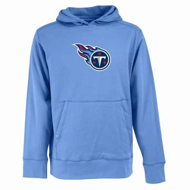Tennessee Titans Big Logo Mens Signature Hooded Sweatshirt (Alternate Color: Aqua)