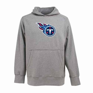 Tennessee Titans Big Logo Mens Signature Hooded Sweatshirt (Color: Gray)