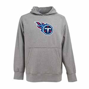 Tennessee Titans Big Logo Mens Signature Hooded Sweatshirt (Color: Gray) - Large
