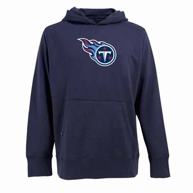 Tennessee Titans Big Logo Mens Signature Hooded Sweatshirt (Team Color: Navy)