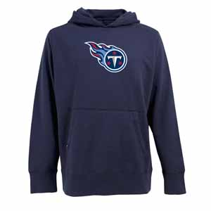 Tennessee Titans Big Logo Mens Signature Hooded Sweatshirt (Team Color: Navy) - Large