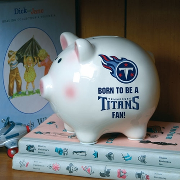 Tennessee Titans (Born to Be) Piggy Bank