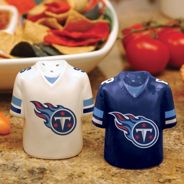 Tennessee Titans Ceramic Jersey Salt and Pepper Shakers