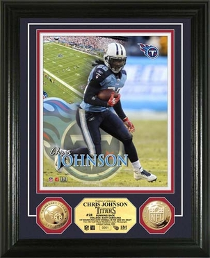 Tennessee Titans Chris Johnson 24KT Gold Coin Photo Mint