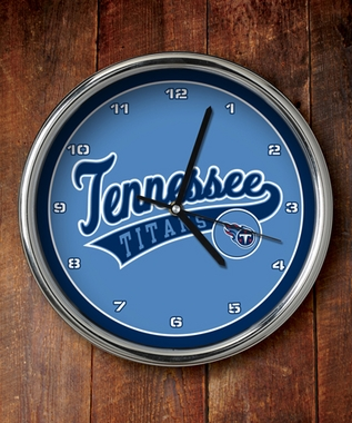 Tennessee Titans Chrome Clock