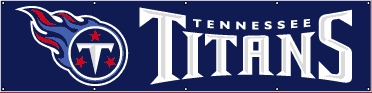 Tennessee Titans Eight Foot Banner