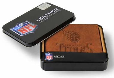 Tennessee Titans Embossed Leather Bifold Wallet
