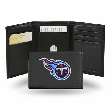 Tennessee Titans Embroidered Leather Tri-Fold Wallet