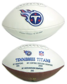 Tennessee Titans Embroidered Signature Series Football