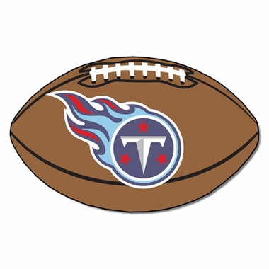 Tennessee Titans Football Shaped Rug