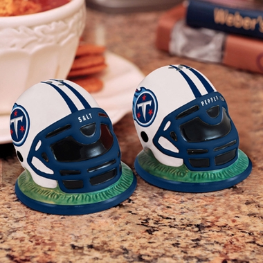 Tennessee Titans Helmet Ceramic Salt and Pepper Shakers