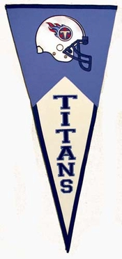 Tennessee Titans Large Wool Pennant