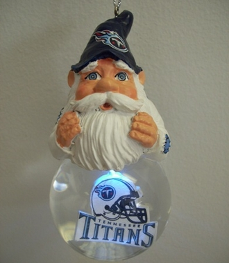 Tennessee Titans Light Up Gnome Snow Globe Ornament