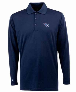 Tennessee Titans Mens Long Sleeve Polo Shirt (Team Color: Navy) - Large