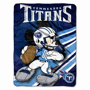 Tennessee Titans Mickey Mouse Microfiber Throw