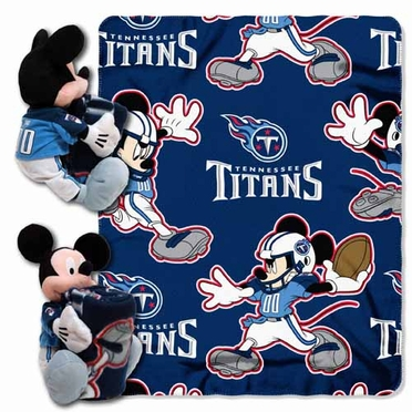Tennessee Titans Mickey Mouse Pillow / Throw Combo